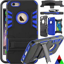 Hard Belt Clip Holster with Stand Tough Case Cover For Apple iPhone 6 6s Plus