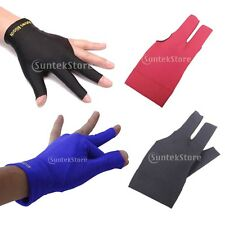 Pro Left Hand 3 Finger Shooter Glove Pool Snooker Billiard Cue - VARIOUS COLOR