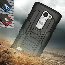 Rugged Armor Hybrid Hard Holster Case Protective Cover For LG Tribute 2 LS665