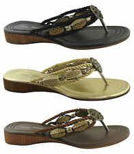 DONNA VELENTA BEXY WOMENS/LADIES SHOES/SUMMER SANDALS FASHION/THONGS/FLATS