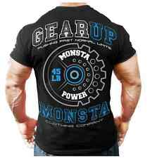 Monsta Clothing Mens Workout Bodybuilding Gym Gear Up Graphic Ultra Soft T Shirt