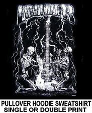 LOUDER ROCK N ROLL A BILLY SKELETON SKULL GUITAR MUSIC HOODIE SWEATSHIRT 549