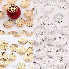 Wholesale Gold /Silver Plated Flower Bead Caps Jewelry Findings Making DIY 9mm