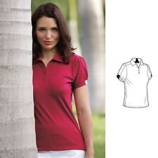 CLEARANCE!! Glenmuir Ladies Alana Performance Women's Shaped Fit Golf Polo Shirt