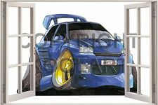 Huge 3D Koolart Window view Renault Clio Dimmac Max Power Sticker Poster 1037