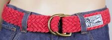 Polo Ralph Lauren Red Rope Belt Double D Brass Buckle NWT S