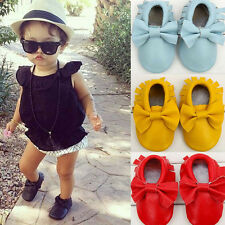 Baby Anti-slip Shoes Moccasins Bow Shoes Firstwalker Leather Infant Shoes Friday