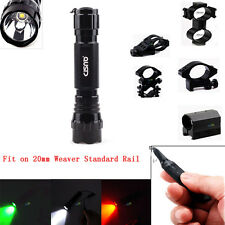 Tactical Flashlight Remote Switch 25mm Ring Mount Fit 20mm Weaver Picatinny Rail