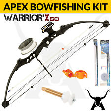 Apex Hunting Warrior X Bowfishing Kit - Compound Bow, Reel, Arrows, Sliders