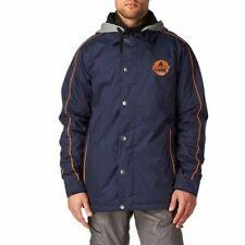 2014 NWT MENS BURTON COURTSIDE SNOWBOARD JACKET $160 ballpoint blue orange