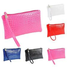 Women Hot Sale Crocodile Leather Clutch Handbag Messenger Canvas Bag Coin Purse