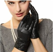 DOZEAL Women's Genuine Lambskin Leather Winter Warm Dress Gloves Christmas Gift