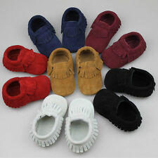 Cute Infant/Toddler/Baby/Boy/Girl/Kid Leather Fringe Moccasins Shoes 0-18 Months