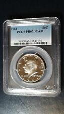 1964 P PCGS PR67DCAM Kennedy Proof Half Dollar 50c Silver Deep Cameo Coin