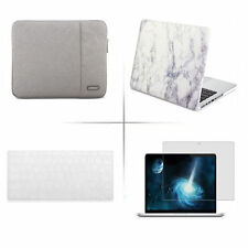 For to fit macbook Air pro retina Rubberized case sleeve carry bag KB cover skin