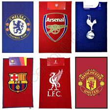 VARIOUS FOOTBALL TEAM RUGS CHELSEA, BARCELONA, ARSENAL & MORE NEW 100% OFFICIAL