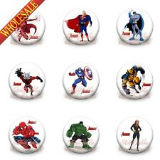 Novelty 9PCS/SET The Avengers Buttons Pins Badges,30MM,Round Brooch Badges Gifts
