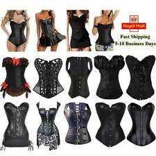 Sexy Black Corset Boned Basque Bustier Boned Waist Trainer Cincher Body Shaper