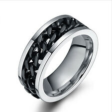 Fashion Spinner Chain Ring Men's Ring Punk Rock Stainless Steel Rings Jewelry
