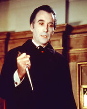 CHRISTOPHER LEE HOLDING KNIFE AS DRACULA COLOR PHOTO OR POSTER