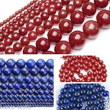 2,4,6,8,10mm Round Natural Lapis Lazuli Red Coral Loose Gemstone Spacer Beads