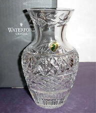 "Waterford Crystal Vase 7"" Urn-shaped Richly Decorated w/Triple Cut Bands New"