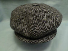 SCOTTISH HARRIS TWEED 8 PIECE WOOL NEWSBOY BAKER BOY CAP DIRECT FROM SCOTLAND
