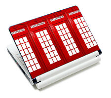"""Telephone Booth Decal Skin Sticker Cover For 9"""" 10"""" 10.1"""" Laptop Netbook Tablet"""