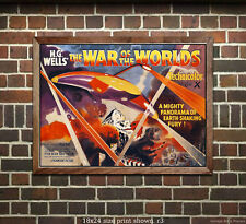 War of the Worlds (#3) Sci-Fi Film Movie Poster [4 sizes, matte+glossy avail]