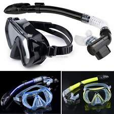 SCUBA Gear Set Panoramic Snorkeling Mask Snorkel Diving Freedive Silicone EN24H