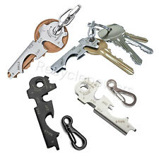 8in1 Key chain Gadget Bottle Opener Ring survival Multi-function Pocket Tool LOT