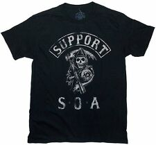 Support SOA Sons Of Anarchy Reaper 2-sided T-shirt - Black