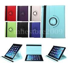 360°Rotating Flip Leather WAKE UP Case Cover Stand For Apple iPad Air 2 3 4 MINI
