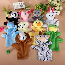 "9"" Zoo Farm Animal Finger Puppet Baby Kids Child Telling Story Glove Plush Toy"