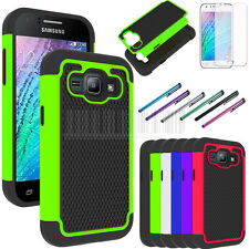 Rugged Hybrid Shockproof Hard Armor Case Protective Cover For Samsung Galaxy J1