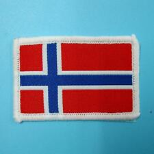 1 Norway Norwegian National Flag Iron on Sew Patch Badge Embroidered Biker Motor