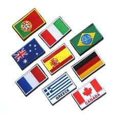"2""x3""Nation Flag Emblem Patch Embroidered Applique National Country Sew Trim Hot"