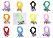 100pcs NiceCharms Mobile Phone Dangle Strap String Thread Cords Various Colors