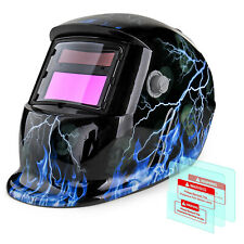 Solar Powered Welding Helmet Auto-Darkening Skull Face Mask Arc Tig Mig Grinding
