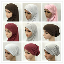 Pure Women Two Piece Muslim Ramadan Modal Cotton Hijab Amira Islamic Head Scarf