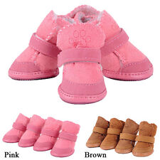 4pcs Winter Warm Small Fur Dog Boots Puppy Shoes Pet Protective Snow Booties