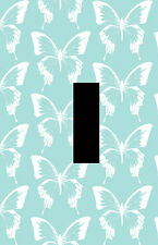 Blue Background White Butterfly Pattern Unique Scenery light switch plate cover
