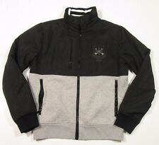 Polo Ralph Lauren Full Zip Pieced Black & Gray Pieced Track Jacket Size Small