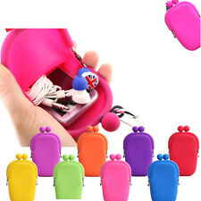 Color Mini Rubber Silicone Cosmetic Makeup Bag Coin Purses Wallet Cellphone Bags
