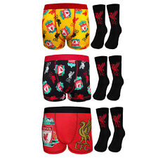 Liverpool FC Official Football Gift Set Boys Socks & Boxer Shorts
