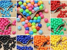 New 8mm 100pc Wholesale Crafts DIY Round Spacer Loose Beads Handcrafted Jewelry