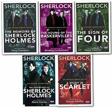 Arthur Conan Doyle Sherlock Homes T.V. Tie in 5 Books Collection Pack Set