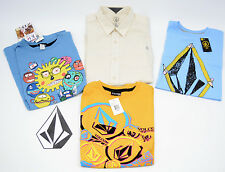 LOT 4 VOLCOM Surf Skate Short Sleeve Button-Up T-Shirt Youth Boys LARGE NWT $96