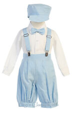 New Baby Toddler Boys Light Blue Knickers Vintage Outfit Suit Set Easter Wedding
