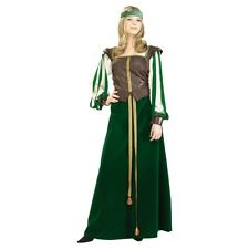 Womens Maid Marion Costume Medieval Times Robin Hood Fancy Dress Party Outfit